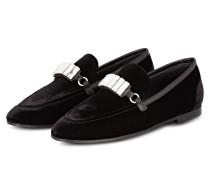 Samt-Loafer CLOVER - schwarz