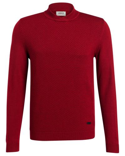 Schurwoll-Pullover mit Schalkragen