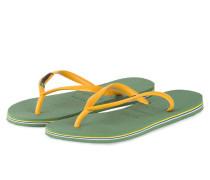 Zehentrenner SLIM BRAZIL - grün/ gelb