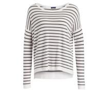 Pullover - khaki/ weiss gestreift