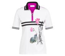 Poloshirt mit Schmucksteinbesatz