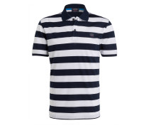 Piqué-Poloshirt - weiss/ marine