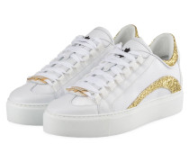 Plateau-Sneaker 251 - WEISS/ GOLD
