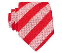 Krawatte - rot/ creme gestreift
