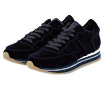 Samt-Sneaker TROPEZ - DUNKELBLAU