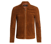 Velourslederjacke MANHATTAN