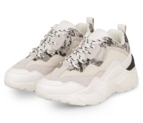 Plateau-Sneaker ANTONIA - WEISS/ HELLGRAU