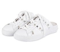 Slipper im Sneaker-Stil - WEISS