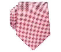 Krawatte - rot/ silbergrau