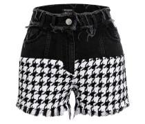Shorts mit Tweed-Besatz