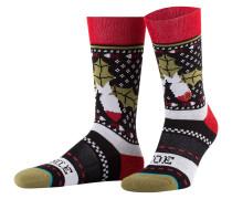 Socken MISSLE TOE 2 - schwarz/ rot/ grün
