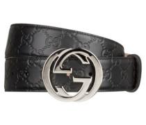 a12189206e4bb Ledergürtel SIGNATURE. Gucci