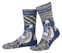Socken R2 - weiss/ grau/ blau