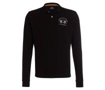 Piqué-Poloshirt Regular-Fit - schwarz