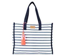 Shopper - navy/ weiss gestreift