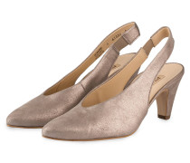 Slingpumps - taupe metallic