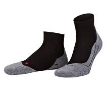 Running-Socken RU4 SHORT - schwarz/ grau