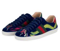 Samt-Sneaker NEW ACE - BLAU