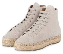 Hightop-Sneaker im Espadrilles-Stil - sand
