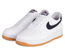 Sneaker AIR FORCE 1 - WEISS/ DUNKELBLAU