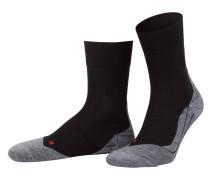 Running-Socken RU4 - schwarz/ grau