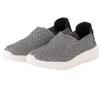 Slip-on-Sneaker - silber metallic/ schwarz