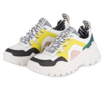 Plateau-Sneaker - WEISS/ SCHWARZ/ GELB