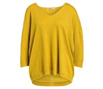 Cashmere-Pullover mit Leinenanteil