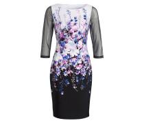 Kleid - schwarz / rosa / blau