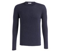 Pullover - marine meliert