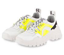 Plateau-Sneaker - CREME/ WEISS/ GELB