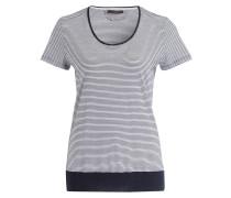 Strickshirt - marine/ weiss