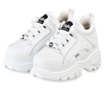 Plateau-Sneaker CLASSIC KICK - WEISS
