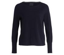 Feinstrick-Pullover - dunkelblau