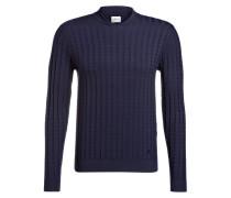Pullover mit Zopfmuster - marine