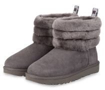Boots FLUFF MINI QUILTED - GRAU