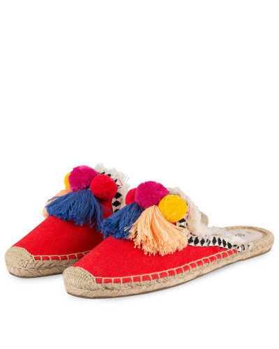 Espadrilles-Slipper FRAYED-EDGE - ROT