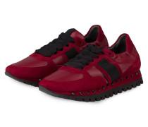 Plateau-Sneaker FLOW - DUNKELROT