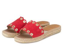 Sandalen im Espadrilles-Stil - ROT
