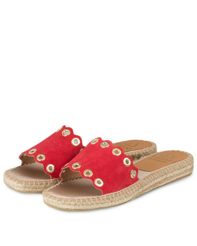 Kanna Damen Sandalen im Espadrilles-Stil - ROT Auslasszwischenraum Store jqsFXi