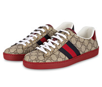 Sneaker ACE GG SUPREME - BRAUN/ ROT