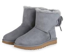 Boots CLASSIC DOUBLE BOW MINI - BLAUGRAU