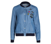 Blouson mit Patches - blau