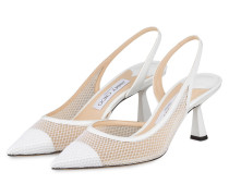 Slingpumps FETTO - WEISS