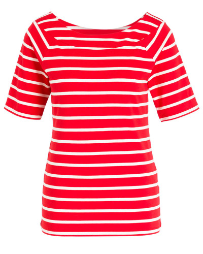 T-Shirt - rot/ offwhite gestreift