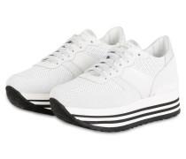 Plateau-Sneaker ISA - WEISS