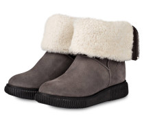 Boots NEW CHRISTINE mit Fellbesatz - grau