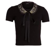 Shirt mit abnehmbaren Perlenkragen