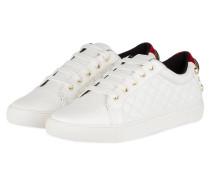 Sneaker LUDO mit Perlenbesatz - WEISS