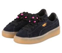 Sneaker PLATFORM FLOWER TASSEL - SCHWARZ